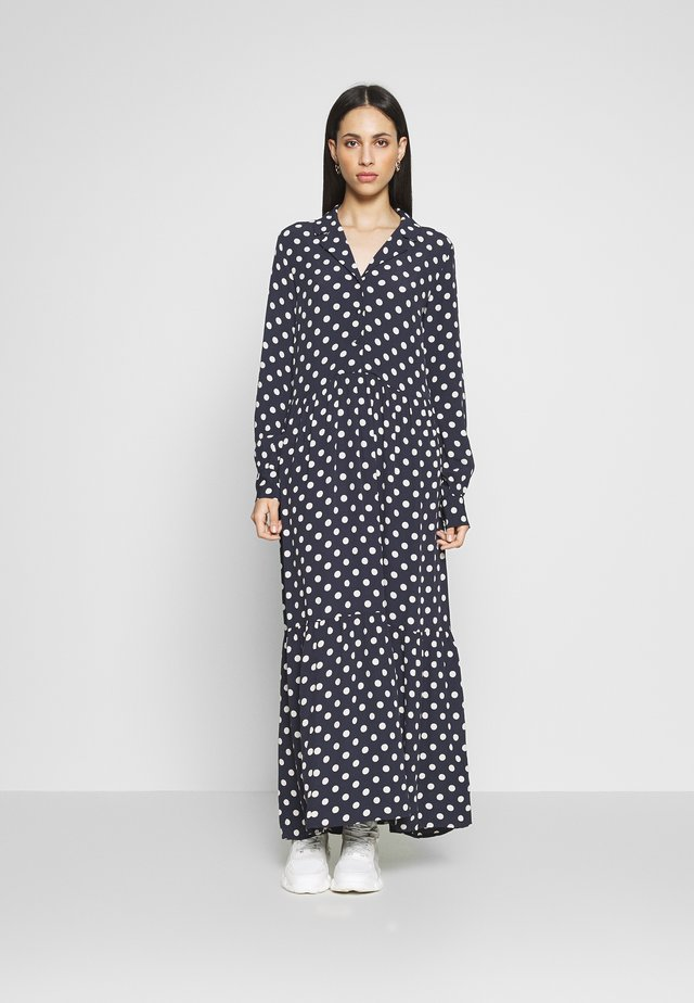 YASNICOLE DRESS  - Maxi-jurk - dark sapphire/with creme dots