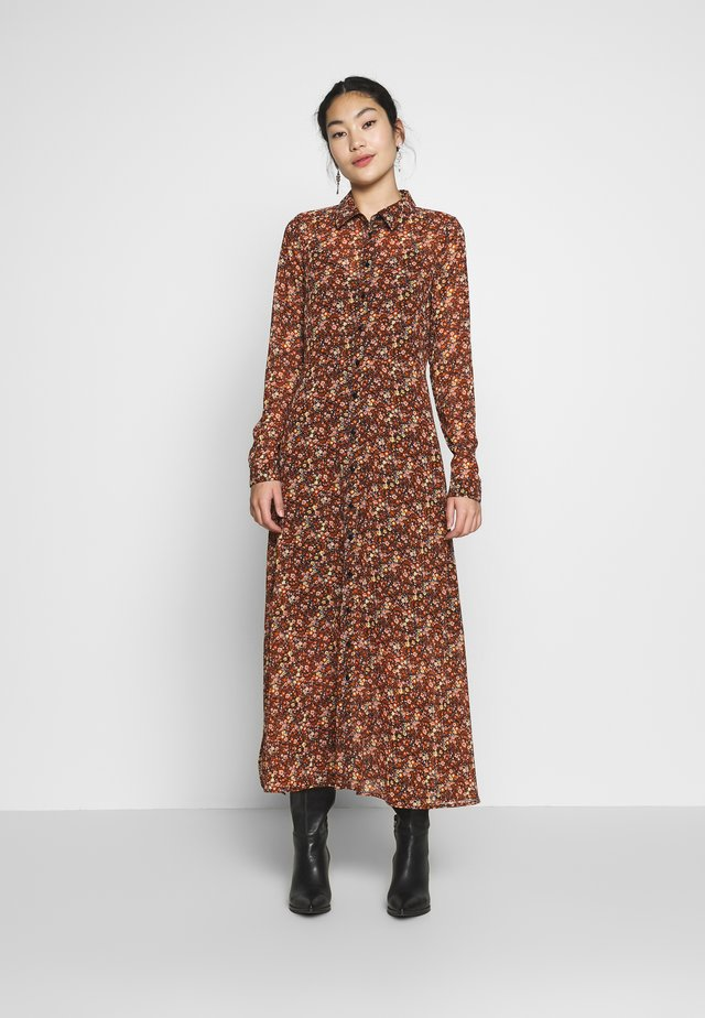YASNOIDA 3/4 LONG SHIRT DRESS - Denní šaty - black/noida