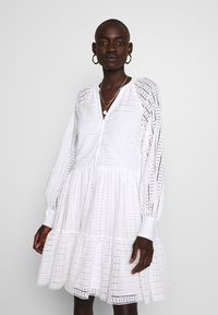 YAS Tall - YASSIA DRESS - Blusenkleid - star white - 0