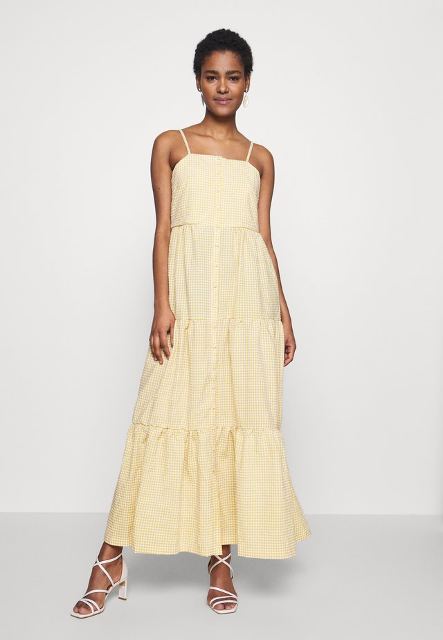 YASLEMON ANKLE DRESS - Maxi dress - citrus/eggnog