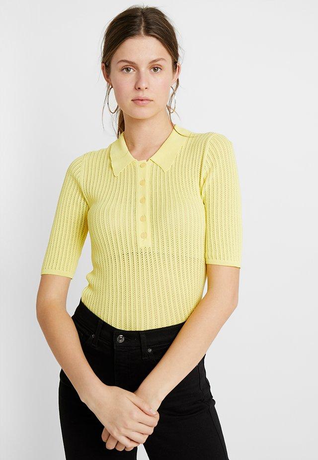 YASPOLA KNIT TEE - T-shirt print - yellow cream