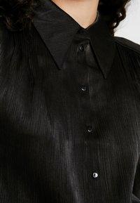 YAS Tall - YASFLUXO PARTY - Button-down blouse - black - 5