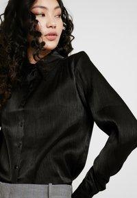 YAS Tall - YASFLUXO PARTY - Button-down blouse - black - 3