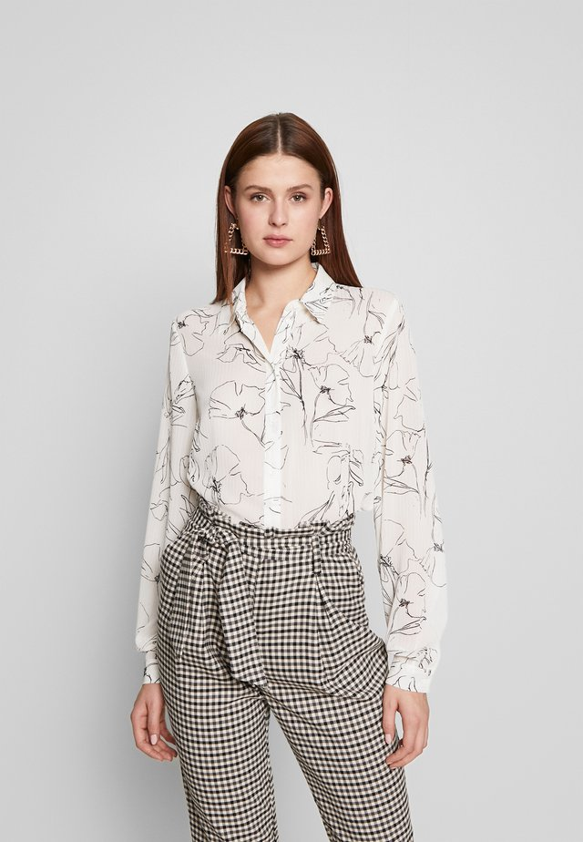YASMALENE MONO - Button-down blouse - star white