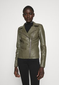 YAS Tall - YASSOPHIE JACKET - Leather jacket - beech - 3