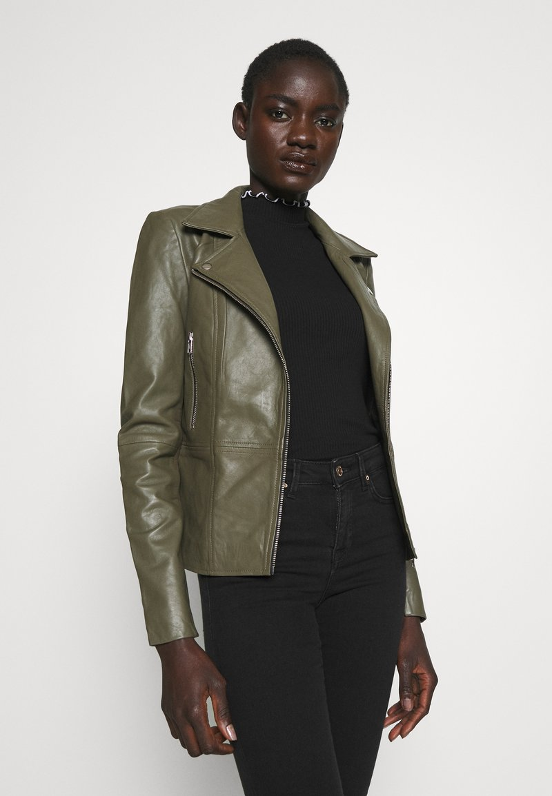 YAS Tall - YASSOPHIE JACKET - Leather jacket - beech