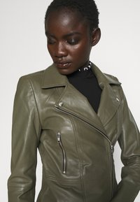 YAS Tall - YASSOPHIE JACKET - Leather jacket - beech - 6