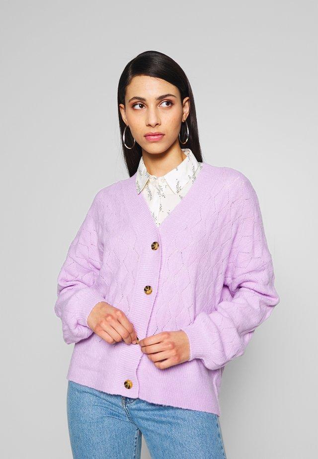 YASDUFFY - Chaqueta de punto - pastel lilac