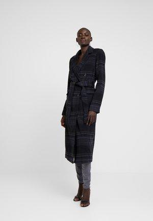 YASCHARONA CHECK COAT - Classic coat - black