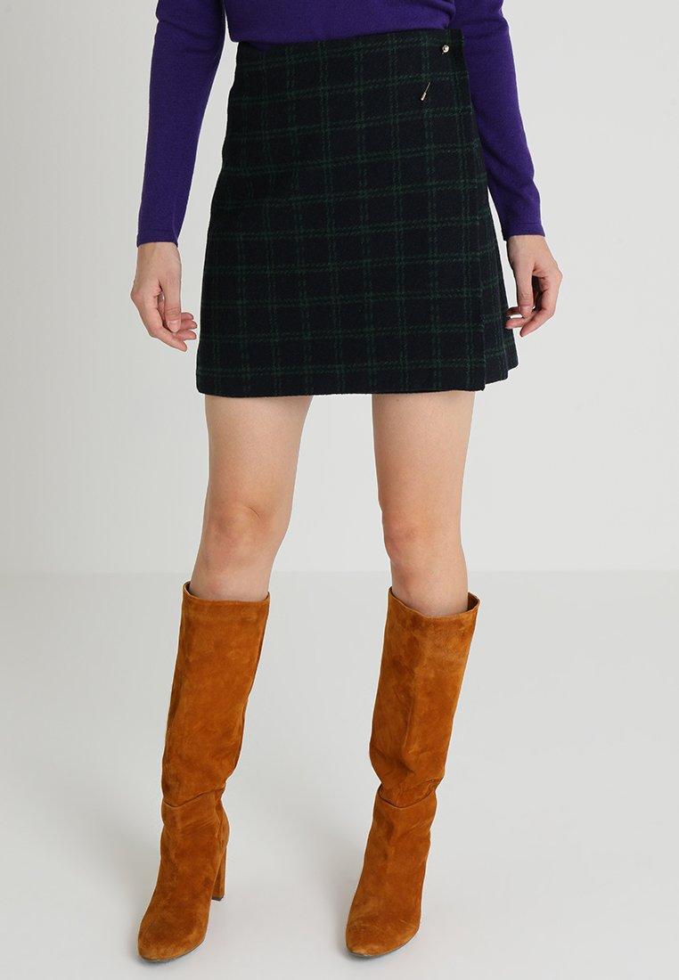 Yargici - NEEDLE DETAILED SKIRT - Wrap skirt - navy/multi color