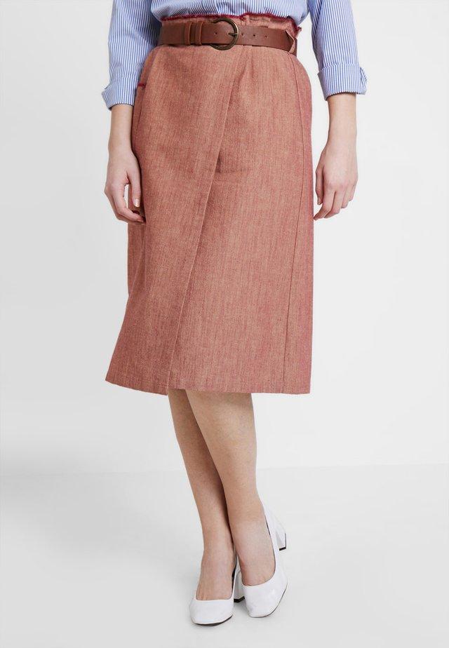 ENVELOPE SKIRT - A-line skirt - tile red