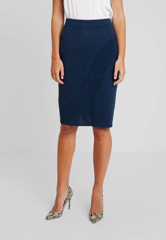 PENCIL SKIRT - Pencil skirt - navy melange
