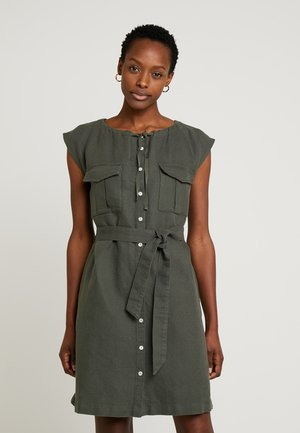 FRONT POCKET DRESS - Sukienka koszulowa - khaki