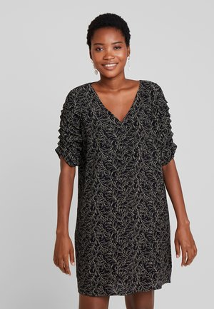 SLEEVE DETAIL DRESS - Day dress - black/multicolor