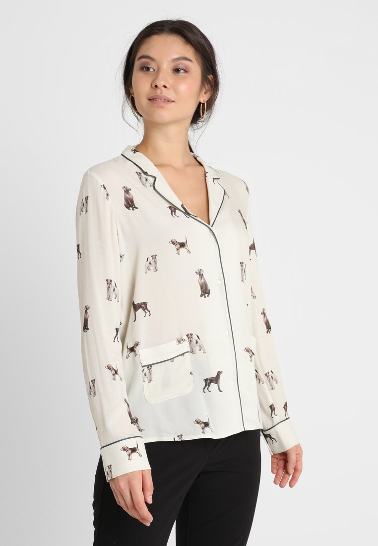 Yargici - JACKET COLLAR - Button-down blouse - brown