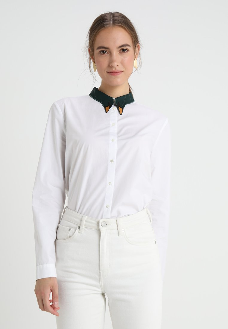 Yargici - EMBROIDERY DETAILED - Button-down blouse - off white