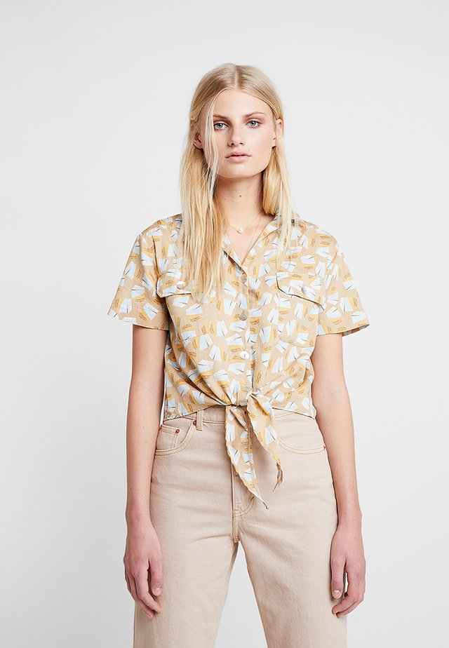 TIE DETAIL - Skjortebluser - beige/multi color