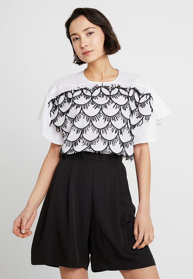 EMBROIDERY DETAIL BLOUSE - Camicetta - white