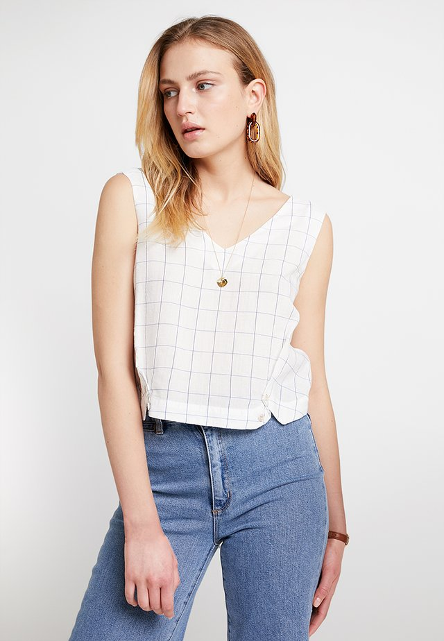 BUTTON DETAIL BLOUSE - Top - off-white