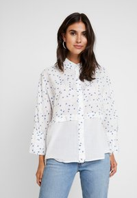 Yargici - CUFF DETAILED RELAXED FIT - Button-down blouse - white/multi color - 0