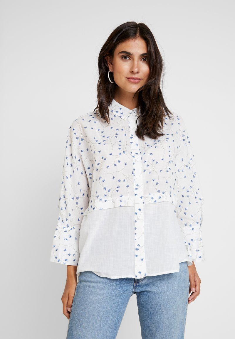 Yargici - CUFF DETAILED RELAXED FIT - Button-down blouse - white/multi color