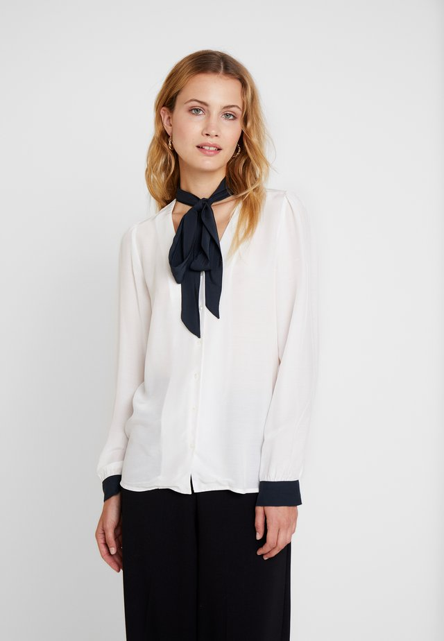 FOULARD DETAILED - Button-down blouse - off white