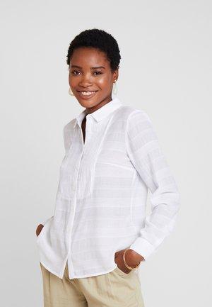 PINTUCK - Button-down blouse - white