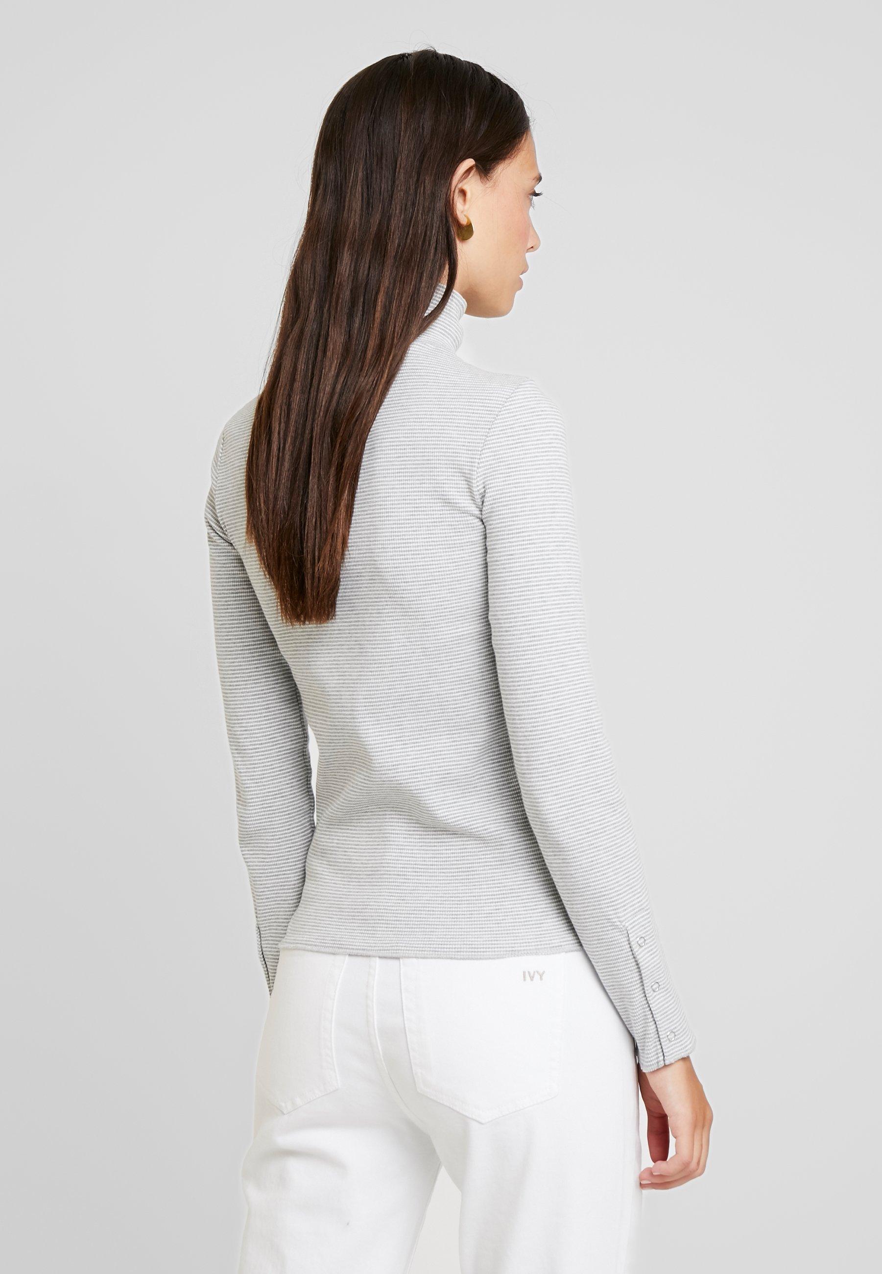 Neck Yargici white SleeveMaglione Grey Long UzqVpSM