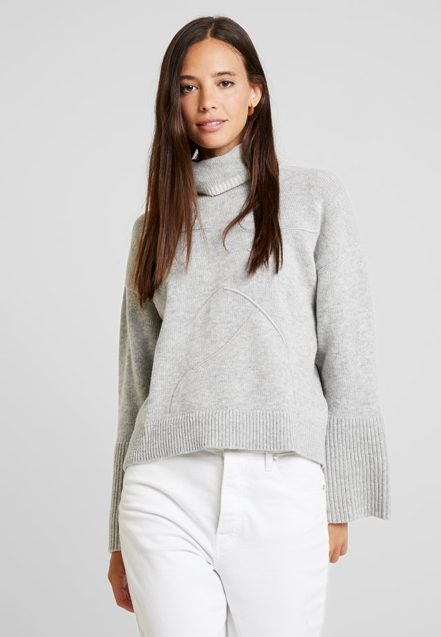 TURTLE NECK - Jumper - grey melange
