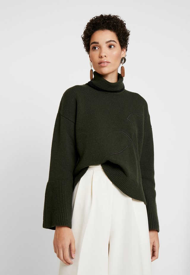TURTLE NECK - Jumper - khaki