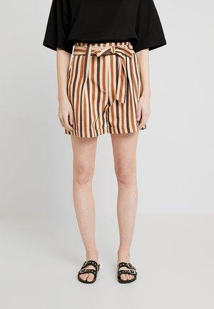 PLEAT DETAILED - Shortsit - brown/multicolor