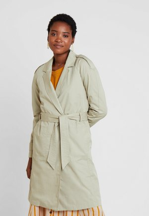 STITCH DETAILED - Trenchcoat - aqua green