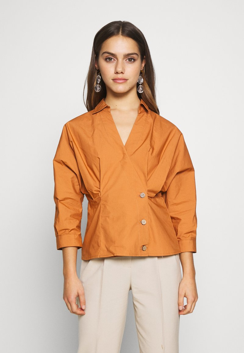 YAS Petite - YASBIRCH SHIRT ICONS - Button-down blouse - hazel