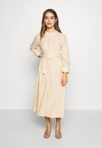 YAS Petite - YASEMBER SHIRT DRESS PETITE - Shirt dress - golden rod/star white - 0