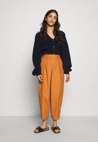 YAS Petite - YASBIRCH CROPPED PANT - Trousers - hazel - 1
