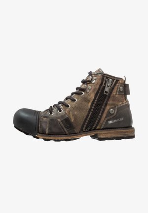 INDUSTRIAL - Kovbojské/motorkářské boty - moss