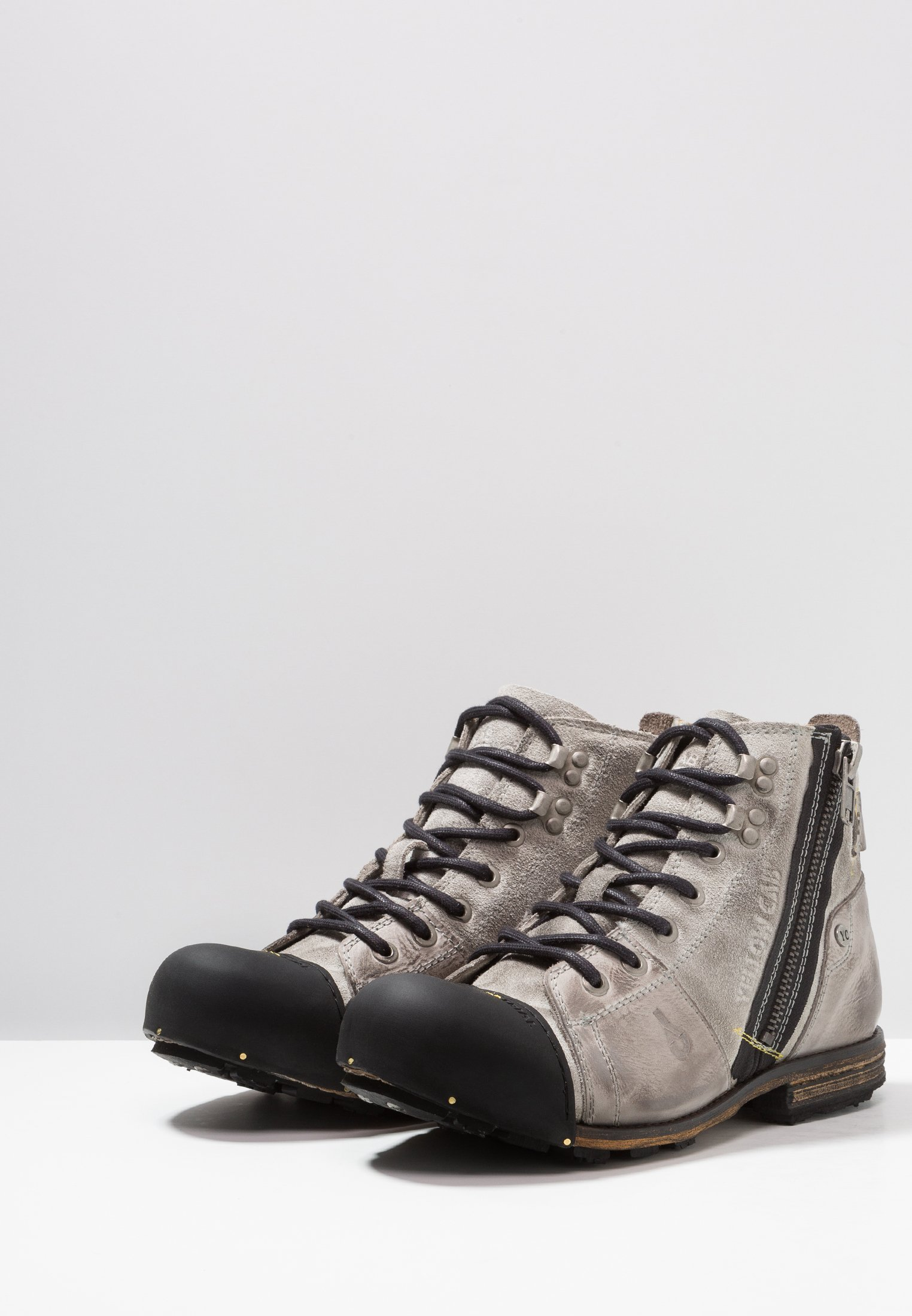 Yellow Cab Industrial - Bottines À Lacets Moss