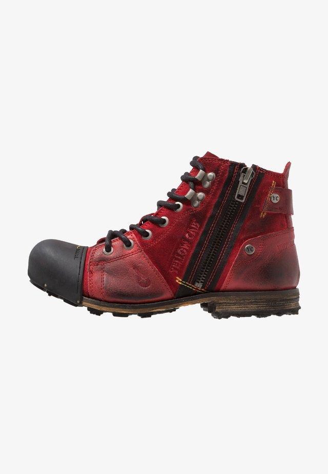 INDUSTRIAL - Šněrovací kotníkové boty - brick