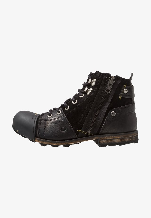 INDUSTRIAL - Bottines à lacets - black