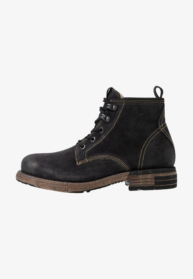 UTAH - Lace-up ankle boots - black