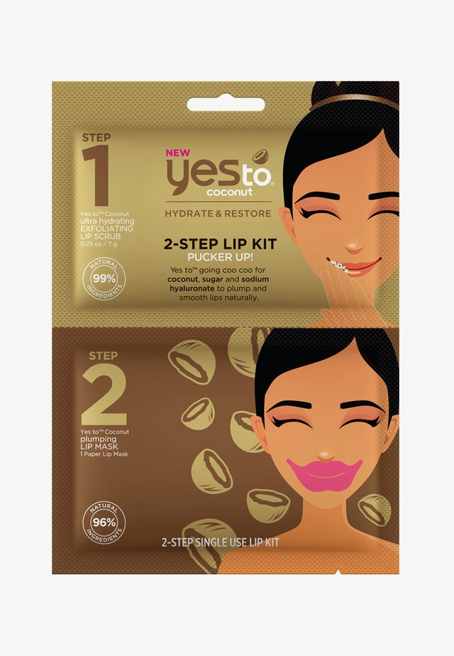 YES TO COCONUT 2-STEP LIP KIT BUNDLE 3 PACK - Lippenbalsam - -