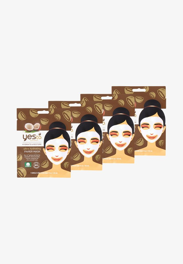 COCONUT PAPER MASK 4 PACK - Skincare set - -