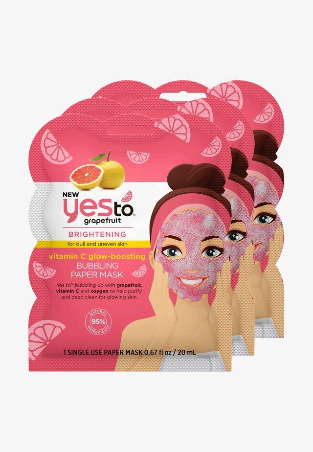 GRAPEFRUIT BUBBLING PAPER MASK 3 PACK - Gesichtsmaske - -