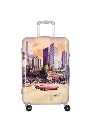 Wheeled suitcase - apricot