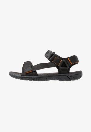 Chodecké sandály - black/orange