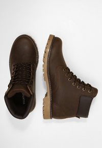 YOURTURN - Lace-up ankle boots - dark brown - 1