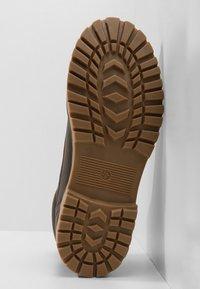 YOURTURN - Lace-up ankle boots - dark brown - 4