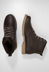 YOURTURN - Lace-up ankle boots - dark brown - 1