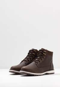 YOURTURN - Lace-up ankle boots - dark brown - 2