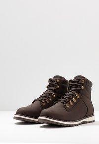 YOURTURN - Lace-up ankle boots - dark brown - 2